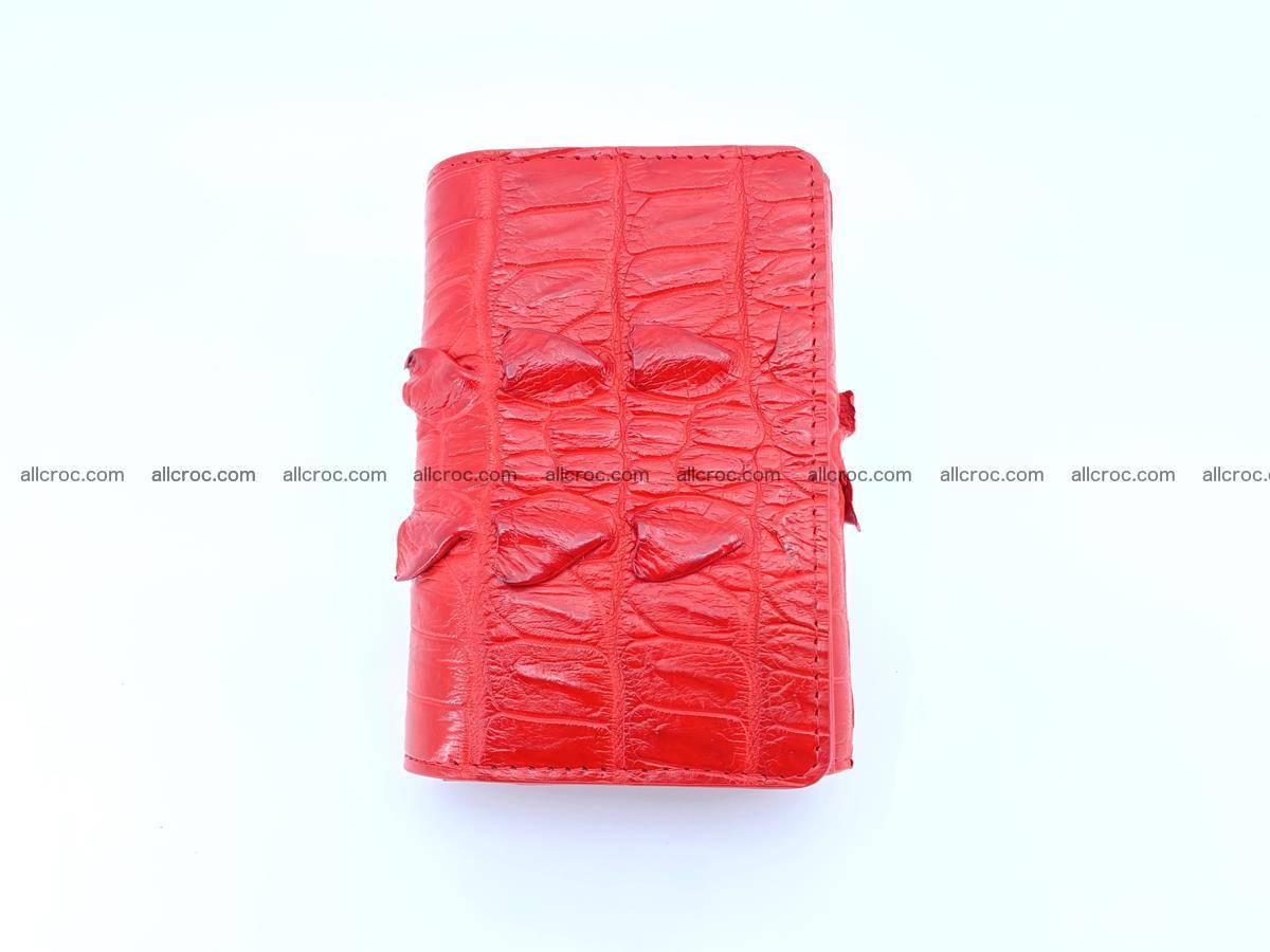 Crocodile skin wallet for women 394 Foto 2