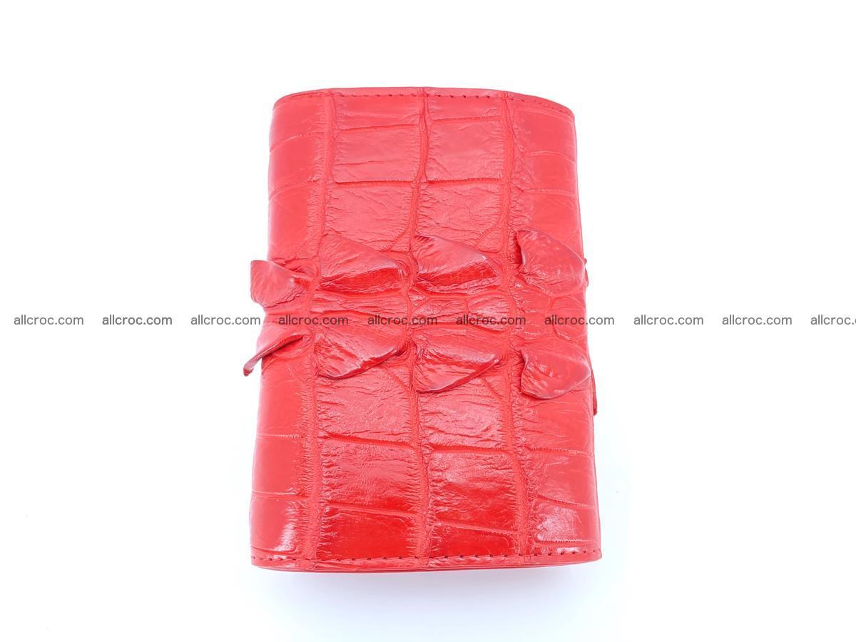 Crocodile skin wallet for women 394 Foto 3
