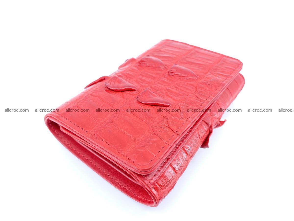 Crocodile skin wallet for women 394 Foto 4