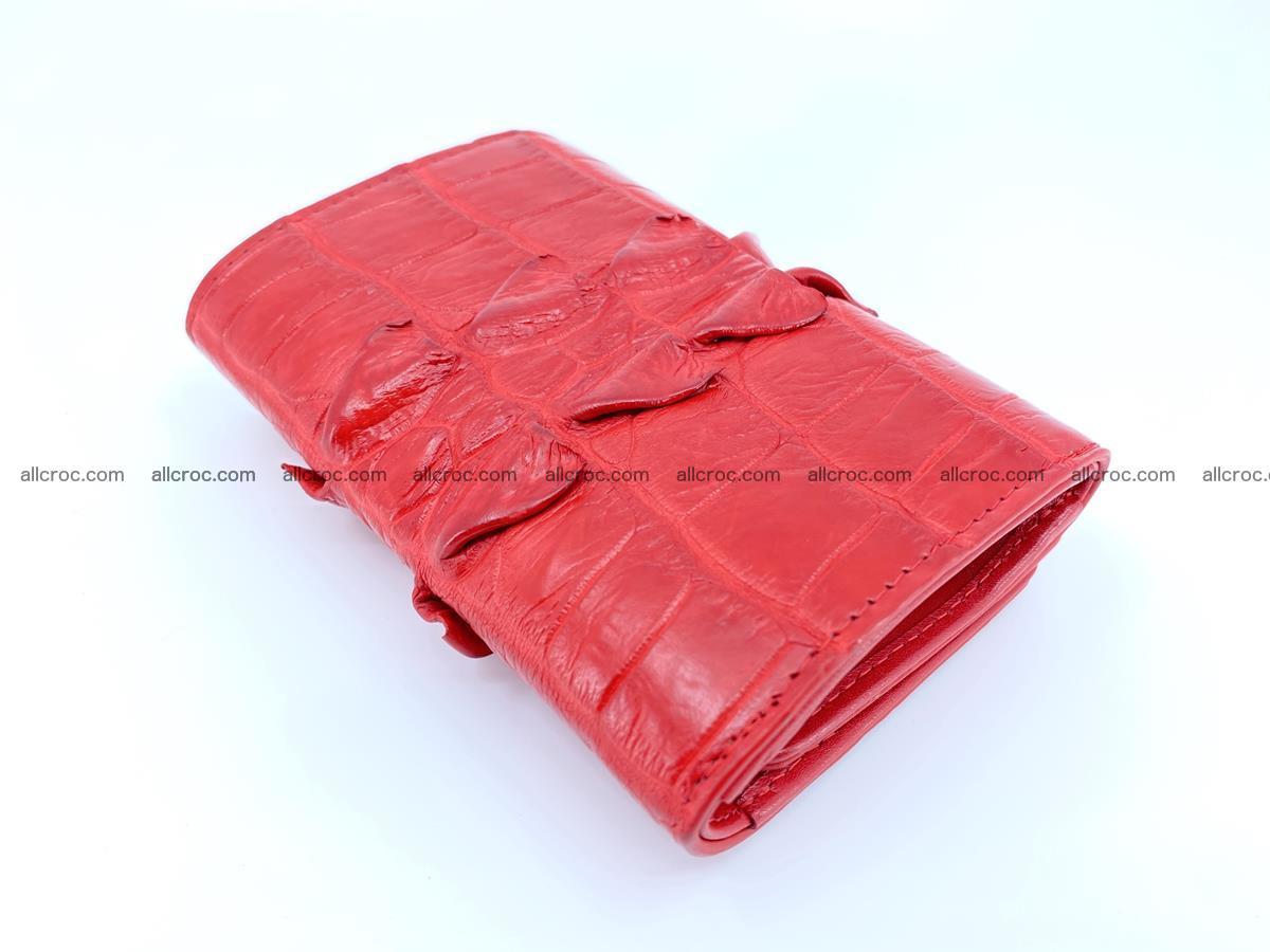 Crocodile skin wallet for women 394 Foto 5