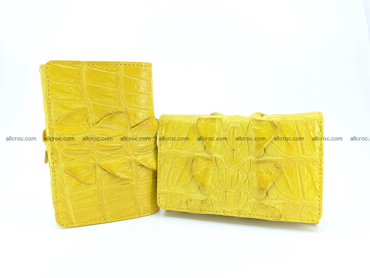 Crocodile skin wallet for women 399 Foto 10
