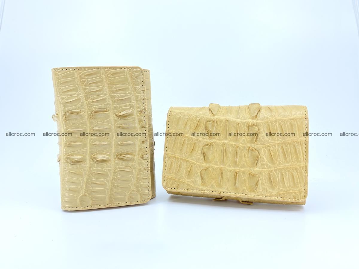 Crocodile skin wallet for women 403 Foto 11