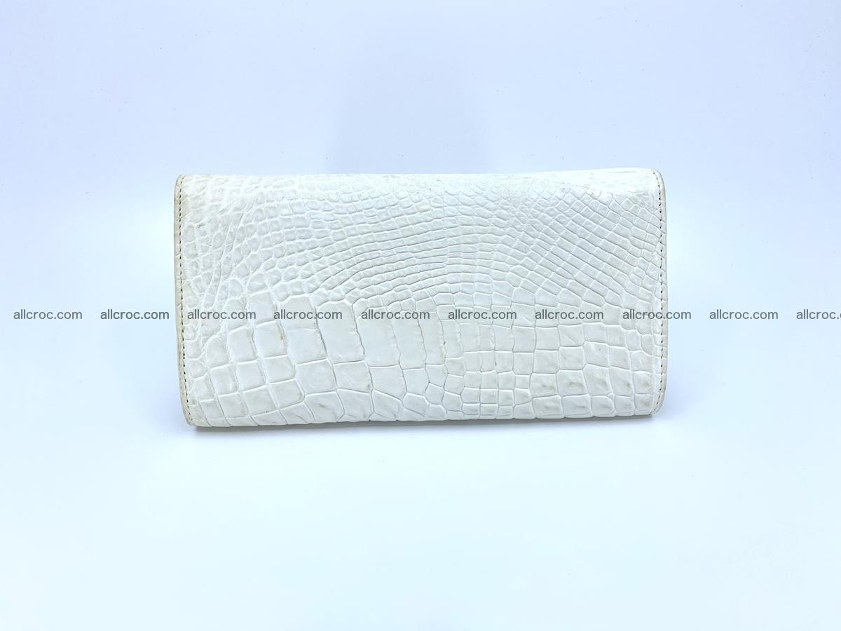 Crocodile skin wallet, long wallet trifold for women 519 Foto 1
