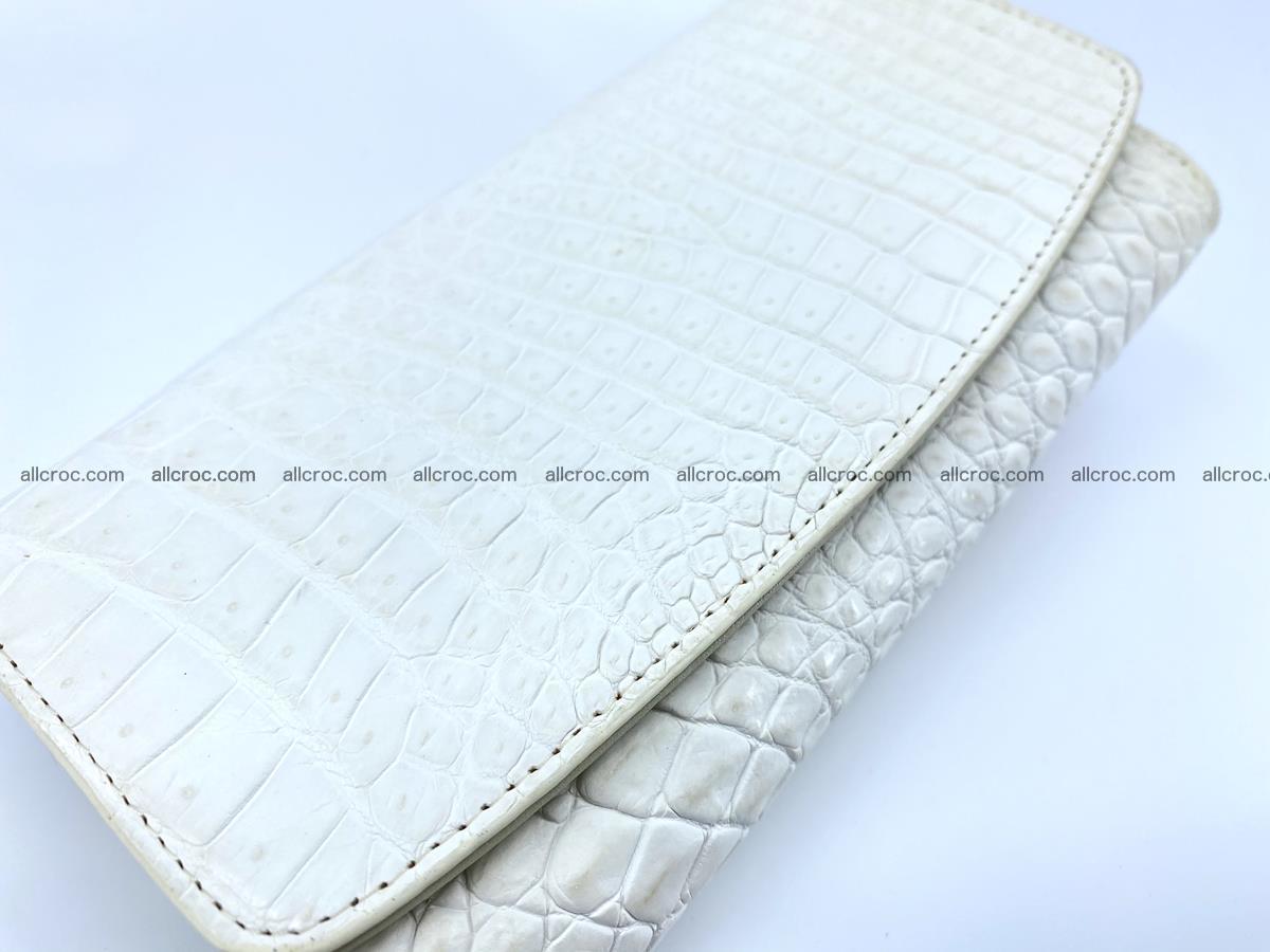 Crocodile skin wallet, long wallet trifold for women 519 Foto 2