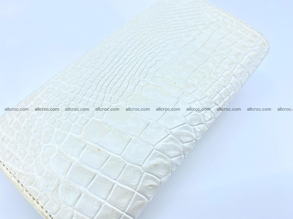Crocodile skin wallet, long wallet trifold for women 519 Foto 3