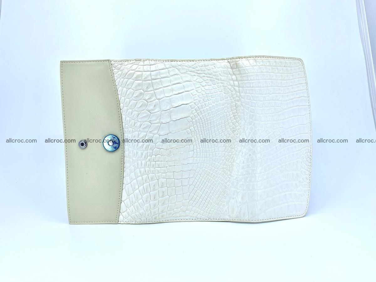 Crocodile skin wallet, long wallet trifold for women 519 Foto 7