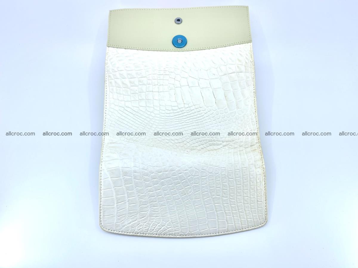 Crocodile skin wallet, long wallet trifold for women 519 Foto 8