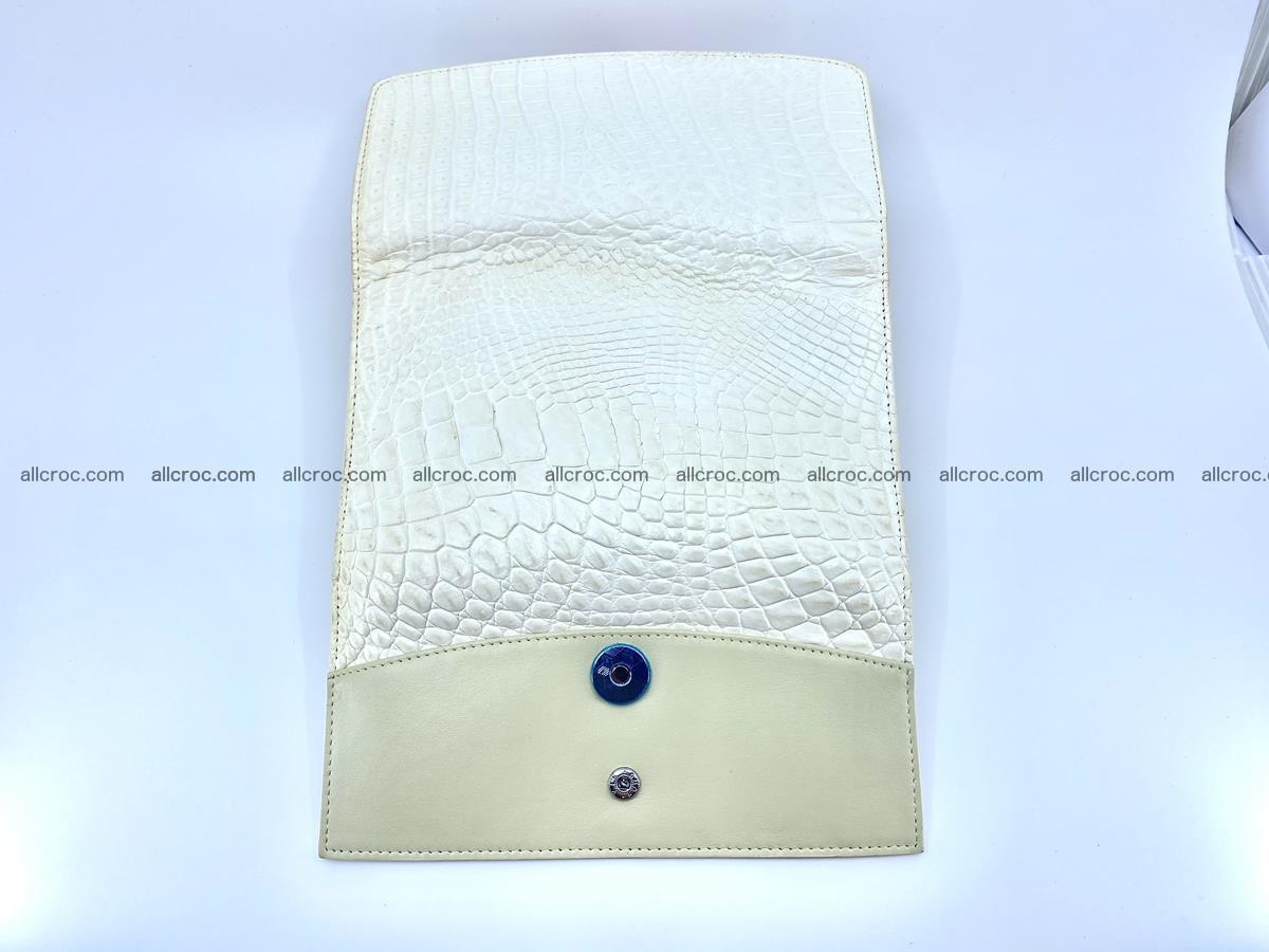 Crocodile skin wallet, long wallet trifold for women 519 Foto 9
