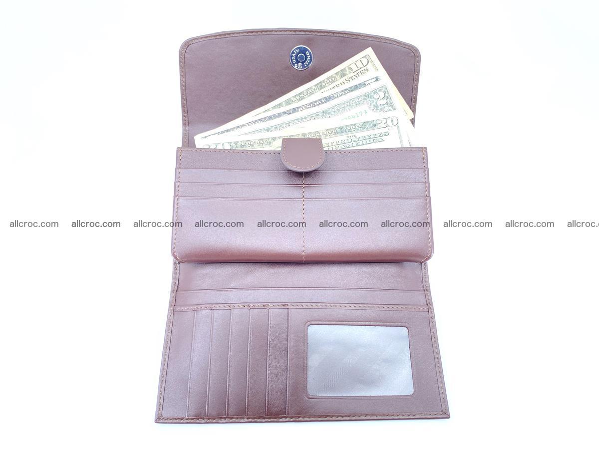 Crocodile skin wallet, long wallet trifold for women 517 Foto 4