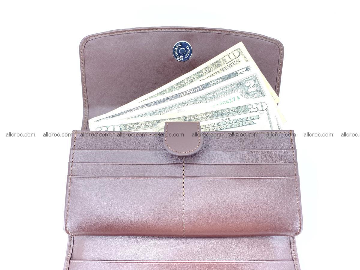 Crocodile skin wallet, long wallet trifold for women 517 Foto 5
