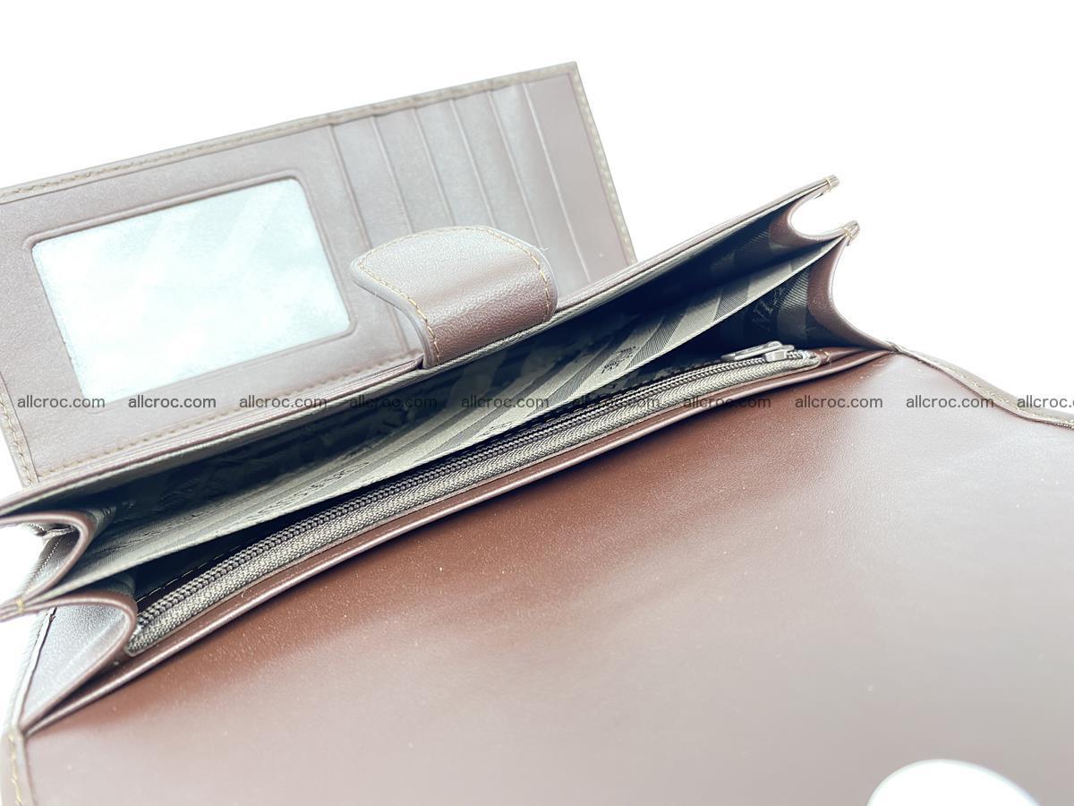 Crocodile skin wallet, long wallet trifold for women 517 Foto 6