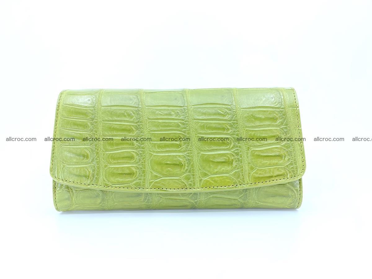 Crocodile skin wallet, long wallet trifold for women 518 Foto 0