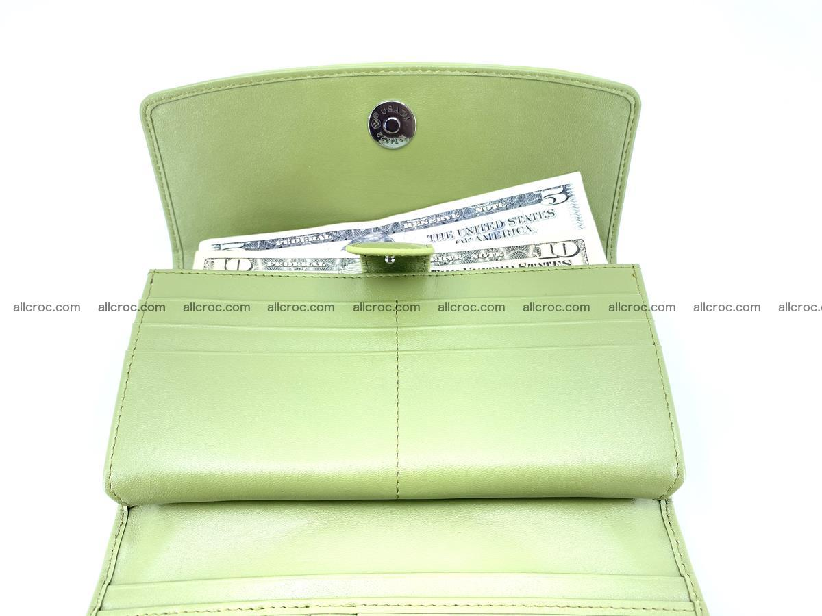 Crocodile skin wallet, long wallet trifold for women 518 Foto 5