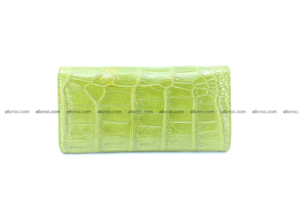 Crocodile skin wallet, long wallet trifold for women 518 Foto 1