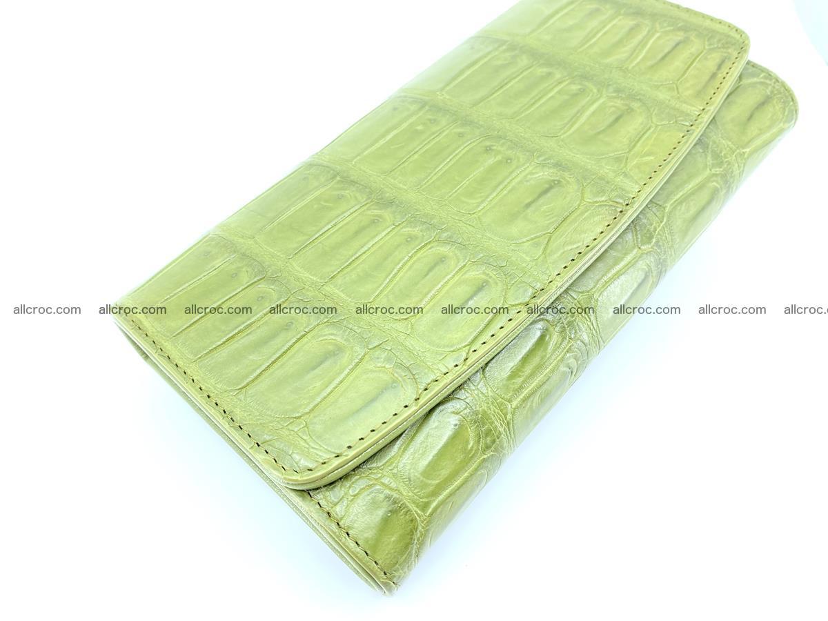 Crocodile skin wallet, long wallet trifold for women 518 Foto 2