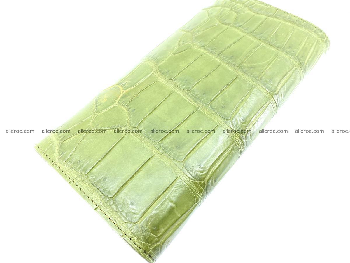 Crocodile skin wallet, long wallet trifold for women 518 Foto 3