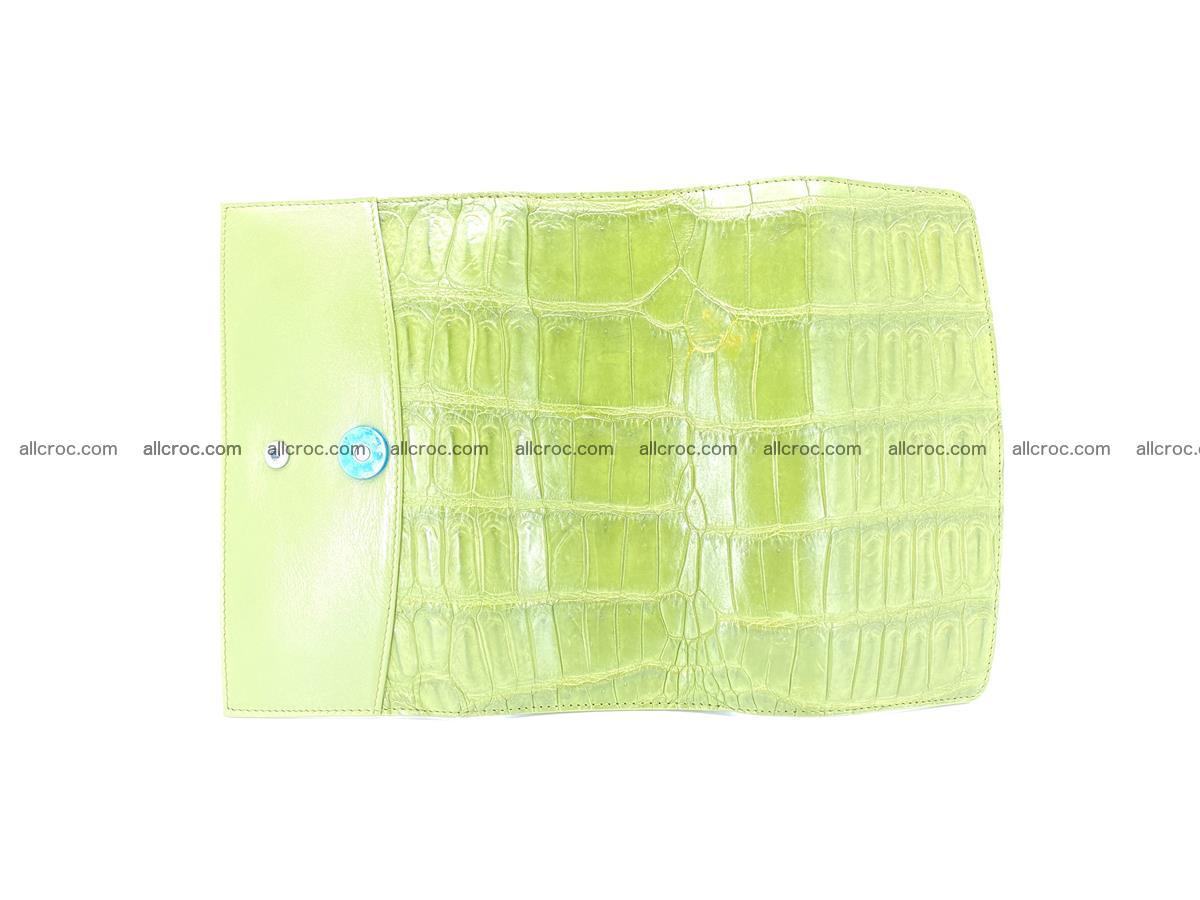 Crocodile skin wallet, long wallet trifold for women 518 Foto 7