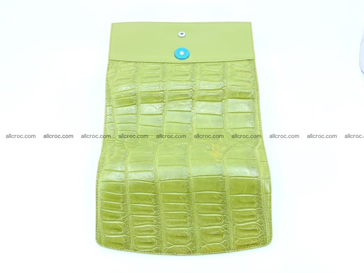 Crocodile skin wallet, long wallet trifold for women 518 Foto 8