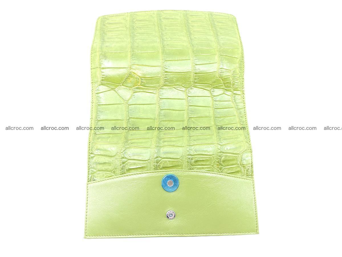 Crocodile skin wallet, long wallet trifold for women 518 Foto 9