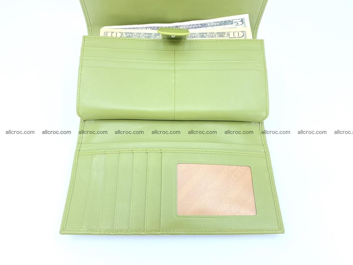 Crocodile skin wallet, long wallet trifold for women 518 Foto 4