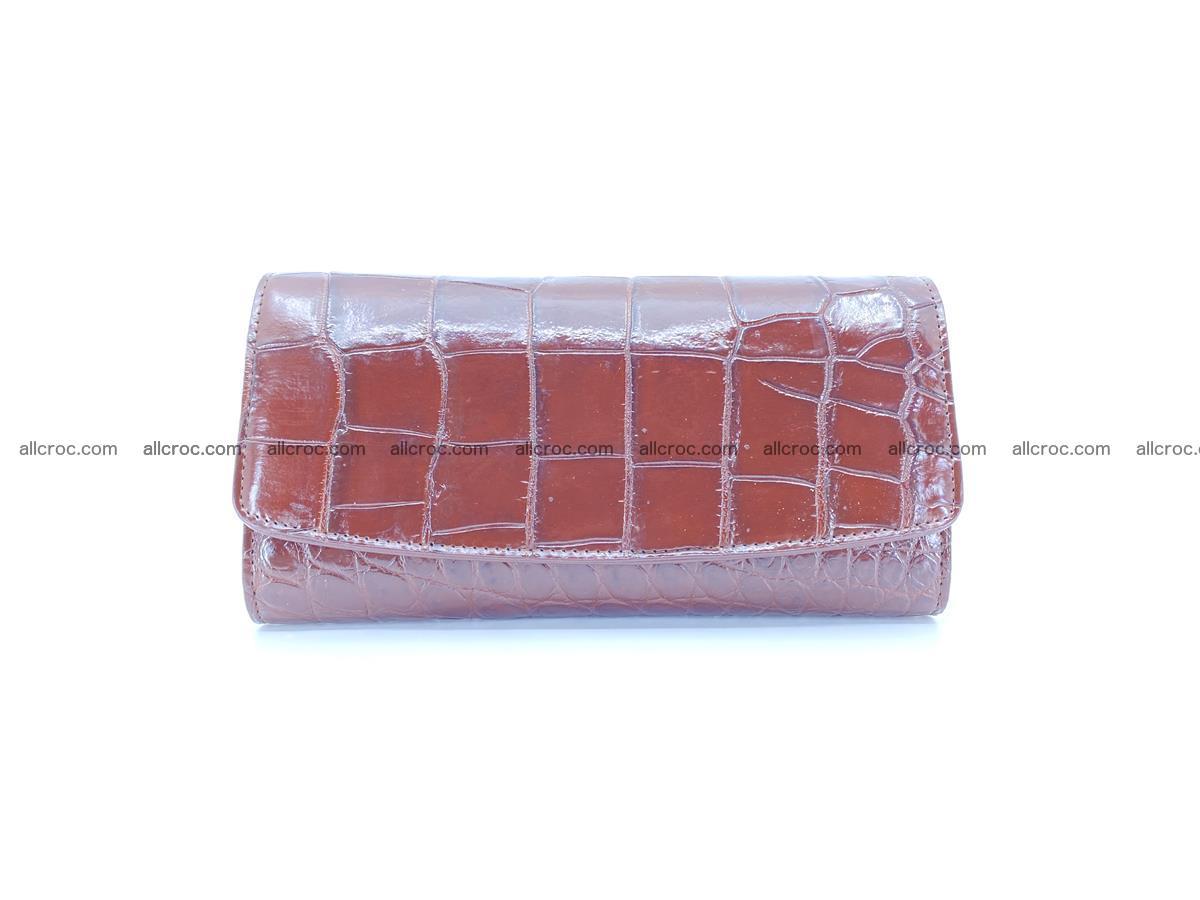 Crocodile skin wallet, long wallet trifold for women 517 Foto 0