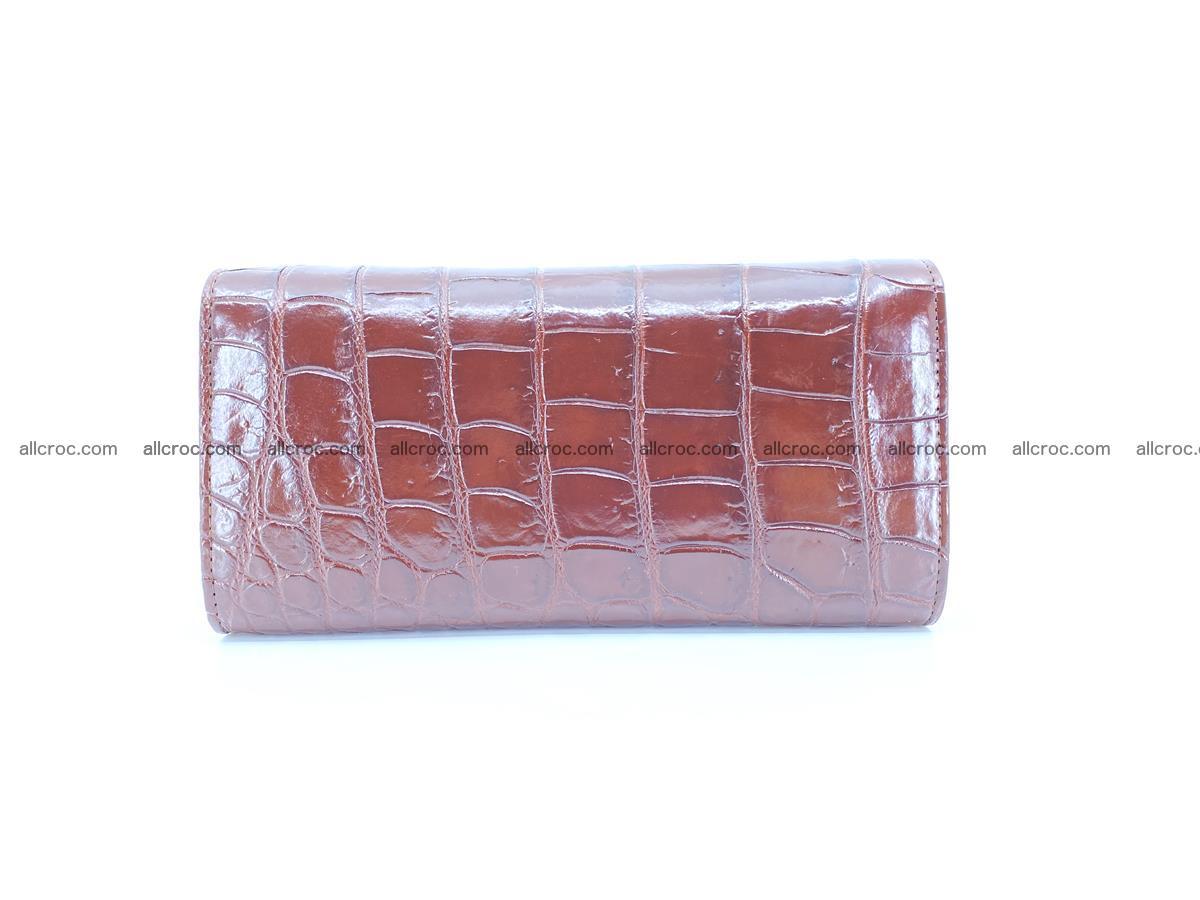 Crocodile skin wallet, long wallet trifold for women 517 Foto 1