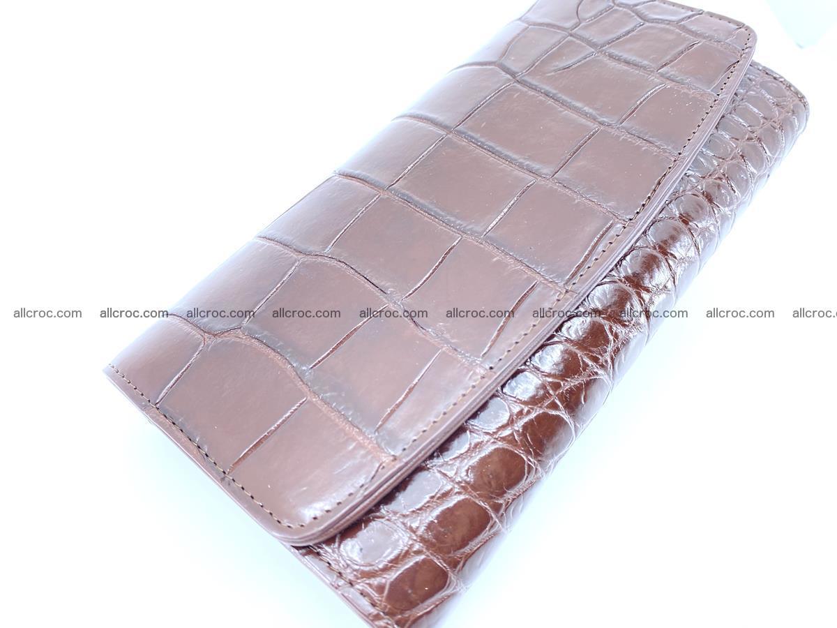 Crocodile skin wallet, long wallet trifold for women 517 Foto 2