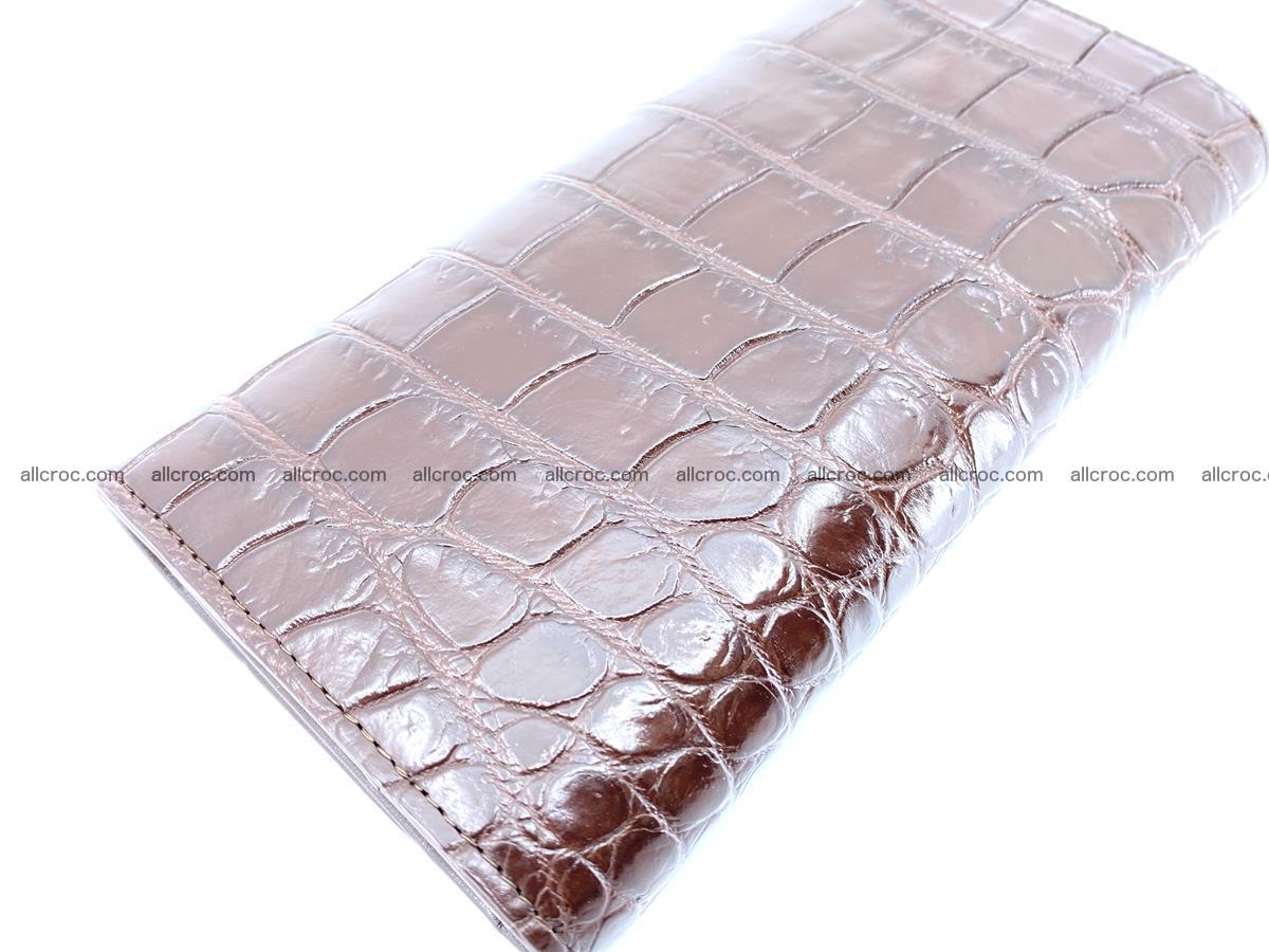 Crocodile skin wallet, long wallet trifold for women 517 Foto 3