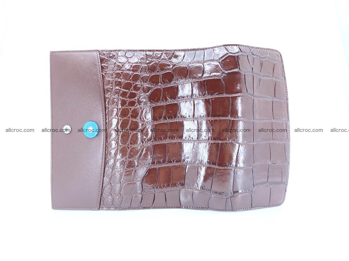 Crocodile skin wallet, long wallet trifold for women 517 Foto 7
