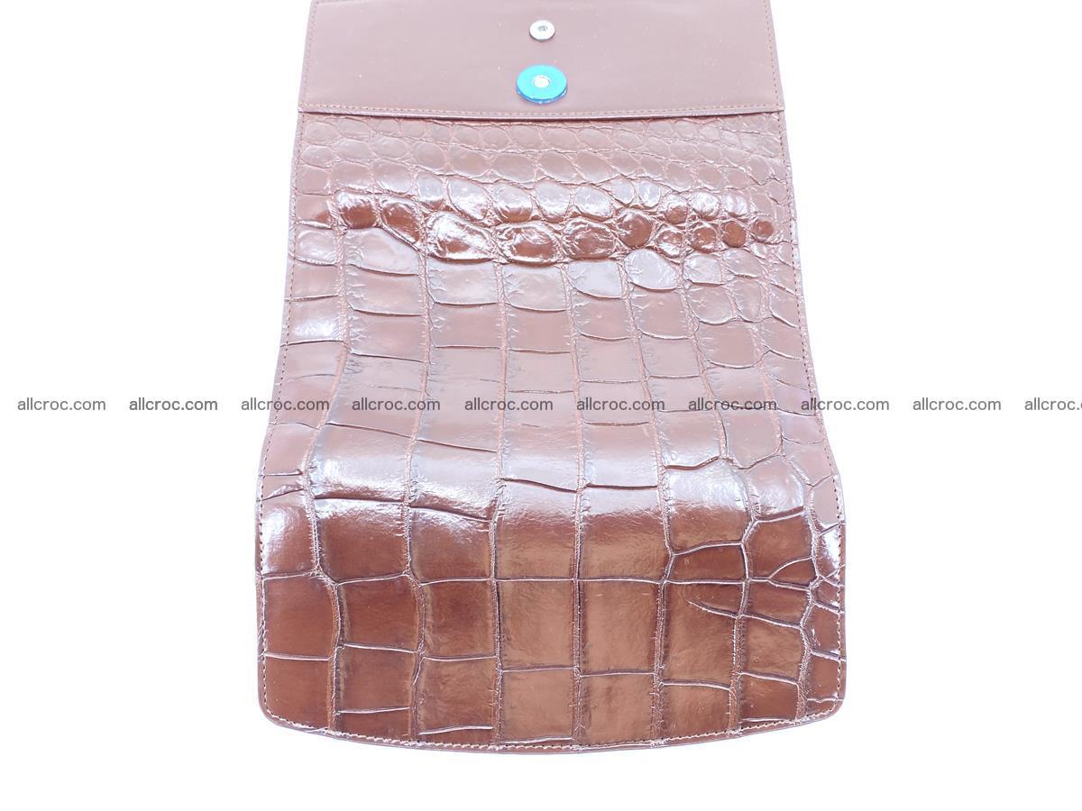Crocodile skin wallet, long wallet trifold for women 517 Foto 9