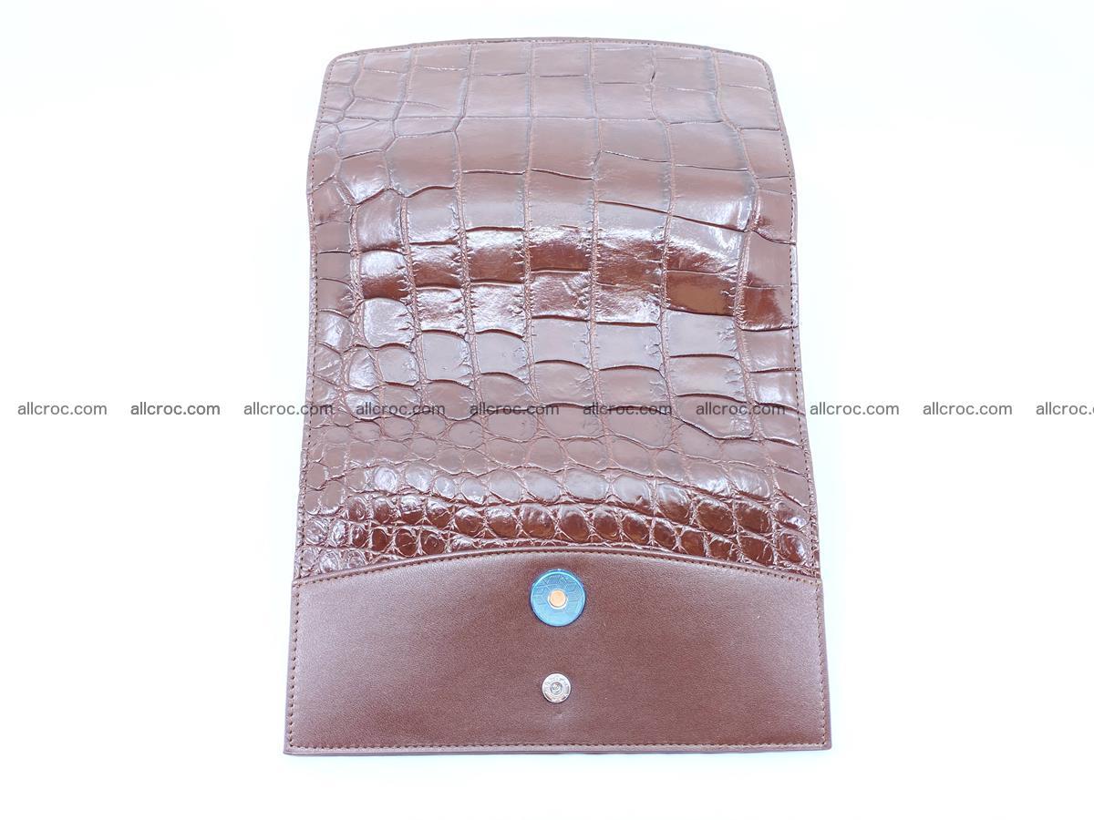 Crocodile skin wallet, long wallet trifold for women 517 Foto 8