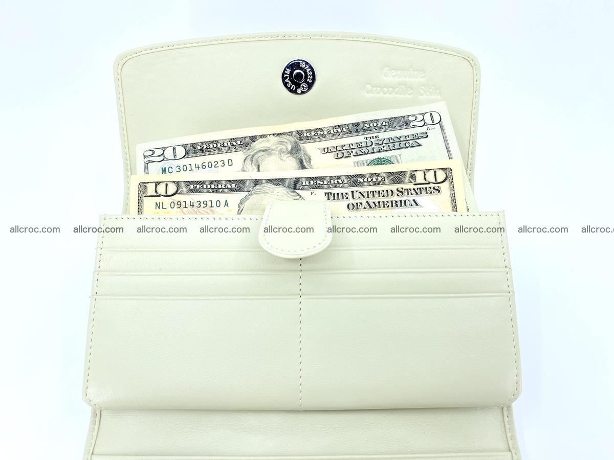 Crocodile skin wallet, long wallet trifold for women 519 Foto 5