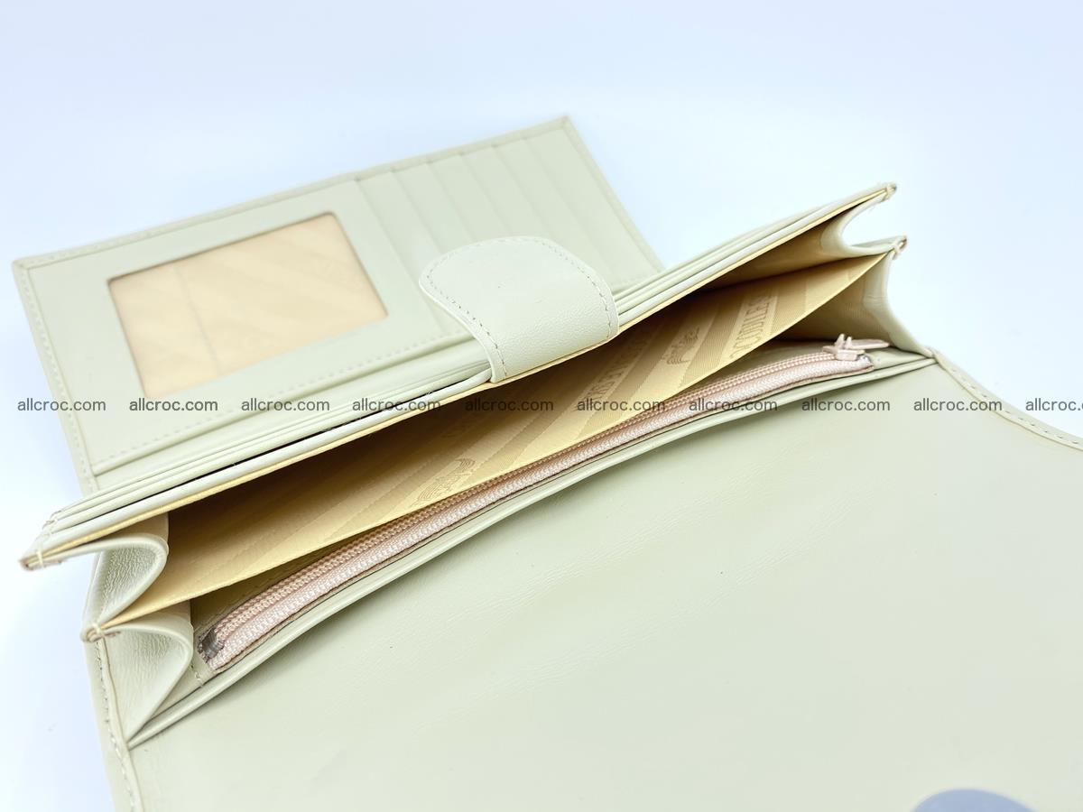 Crocodile skin wallet, long wallet trifold for women 519 Foto 6