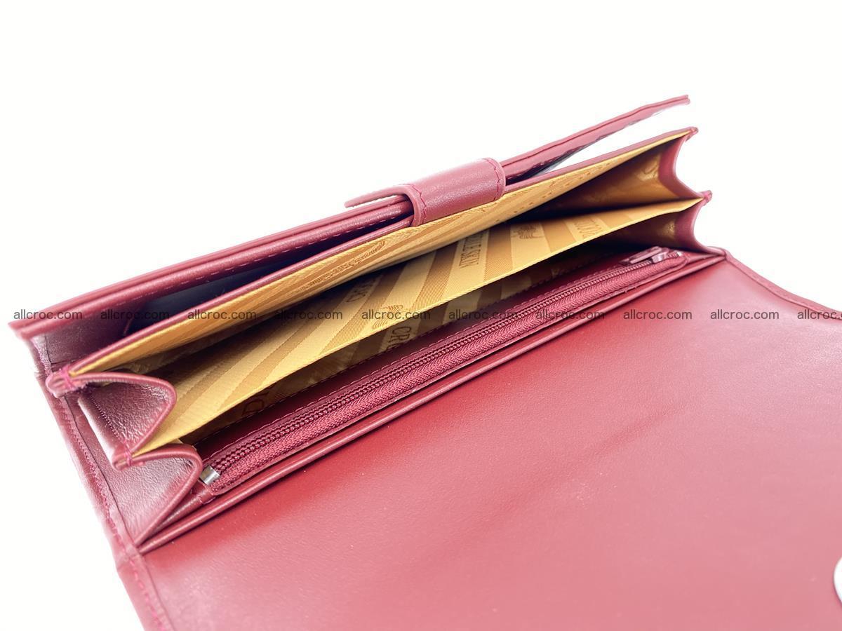 Crocodile skin wallet trifold for women 514 Foto 6