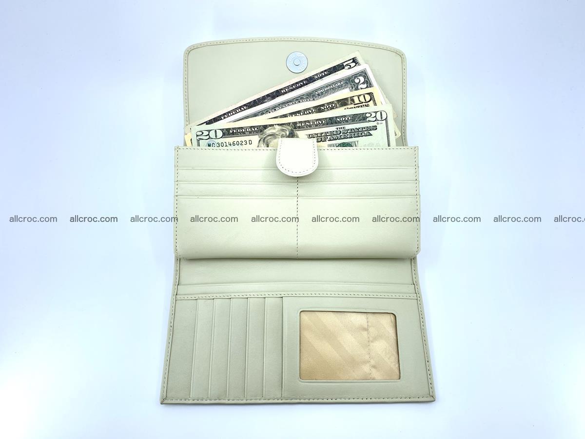 Crocodile skin wallet trifold for women 516 Foto 6