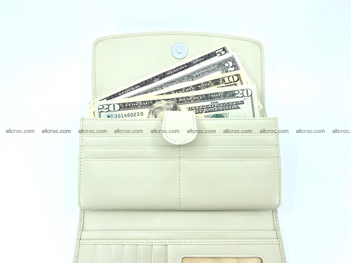 Crocodile skin wallet trifold for women 516 Foto 7