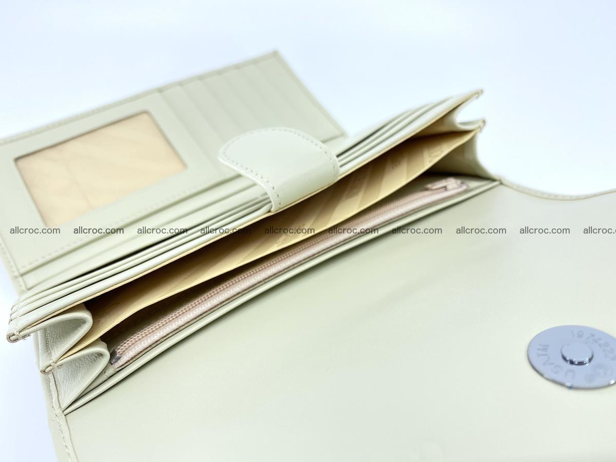Crocodile skin wallet trifold for women 516 Foto 8