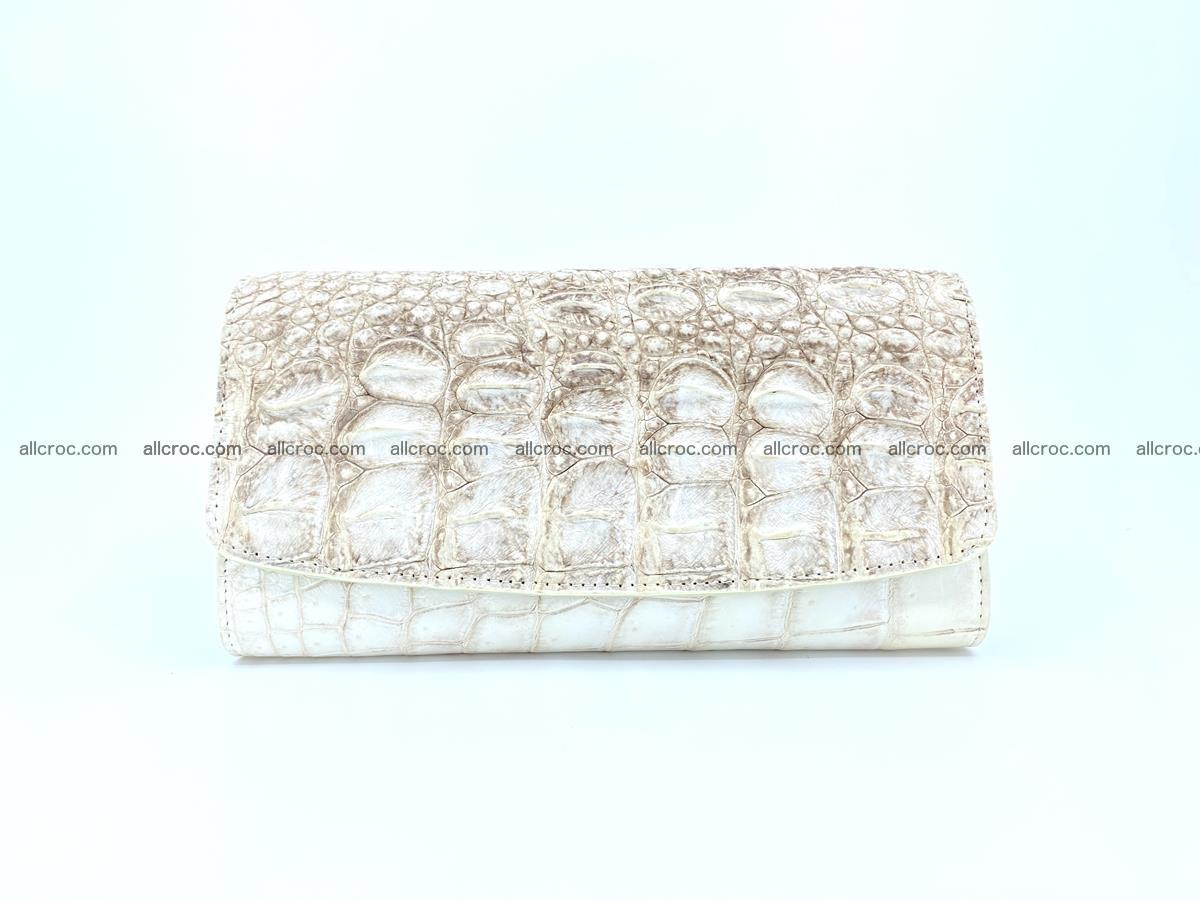 Crocodile skin wallet trifold for women 515 Foto 0