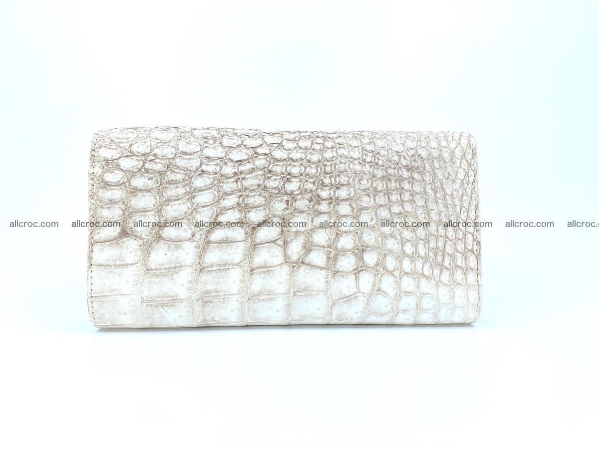 Crocodile skin wallet trifold for women 515 Foto 1