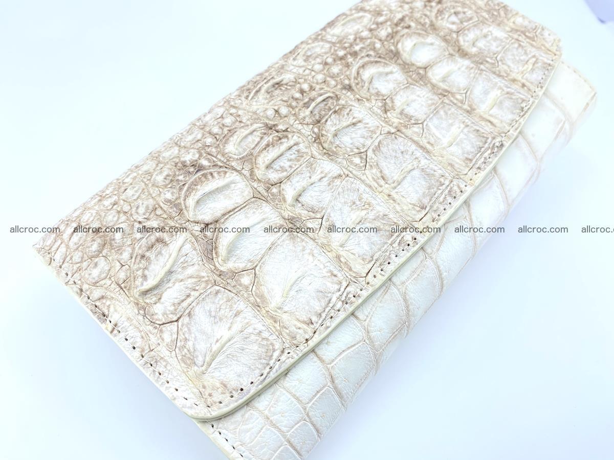Crocodile skin wallet trifold for women 515 Foto 2