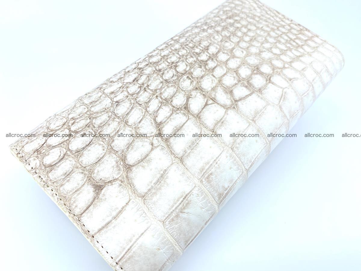 Crocodile skin wallet trifold for women 515 Foto 3