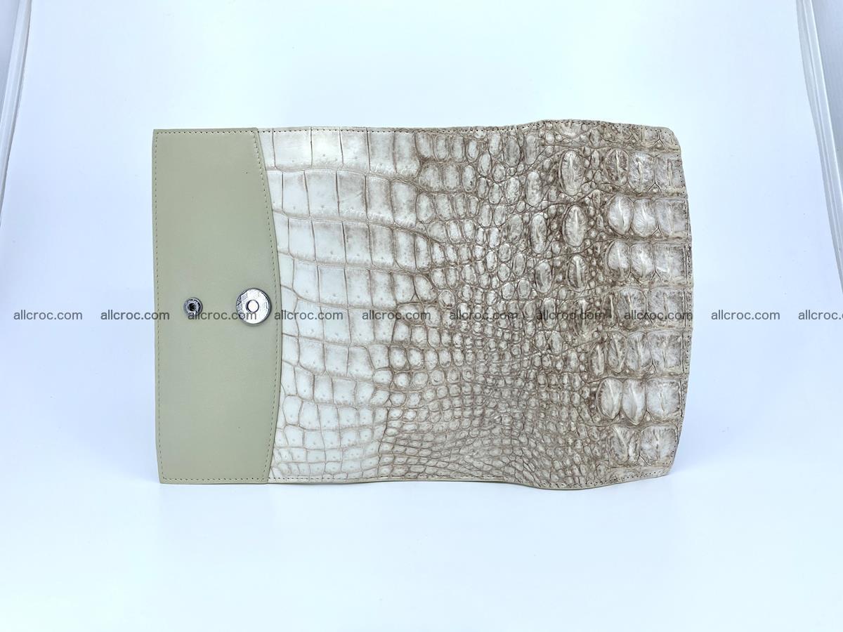 Crocodile skin wallet trifold for women 515 Foto 8