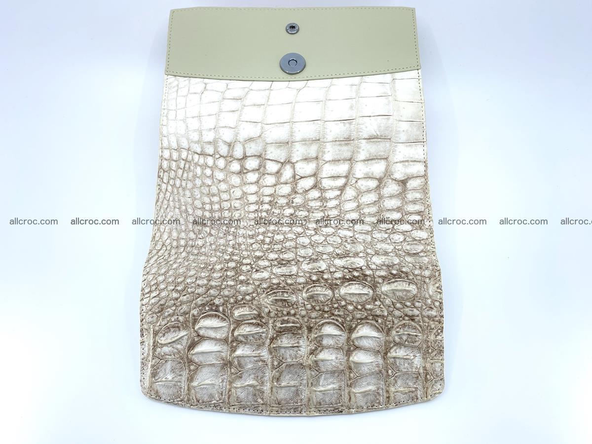 Crocodile skin wallet trifold for women 515 Foto 9