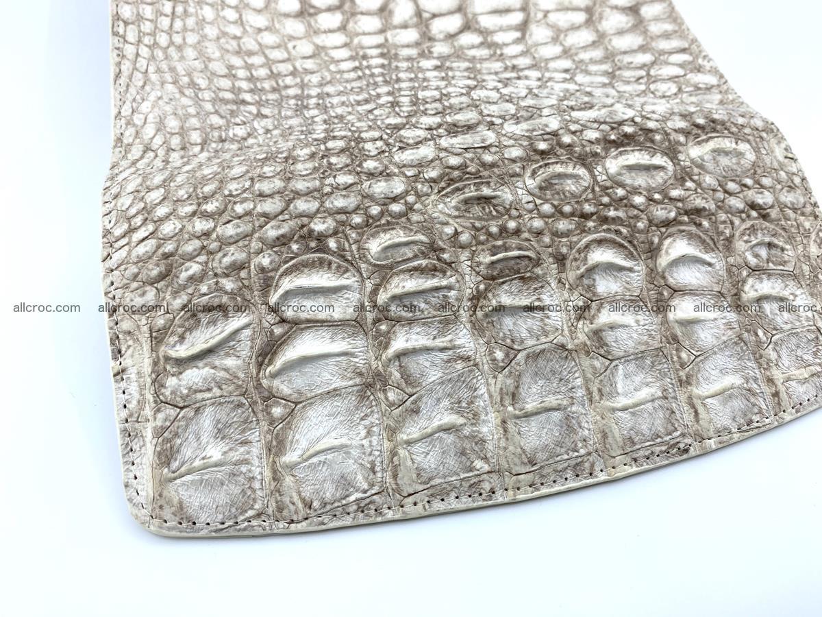 Crocodile skin wallet trifold for women 515 Foto 4