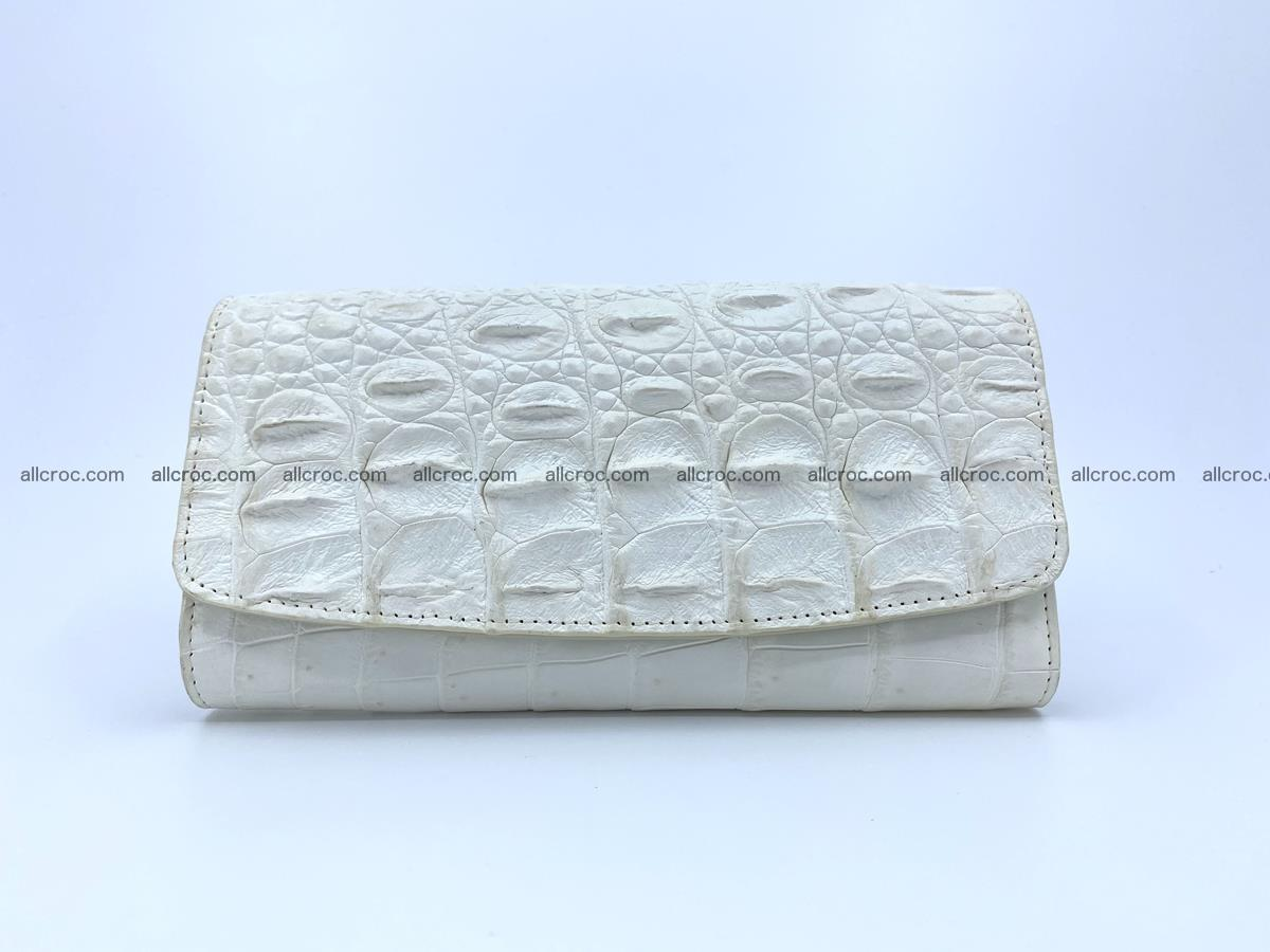 Crocodile skin wallet trifold for women 516 Foto 0