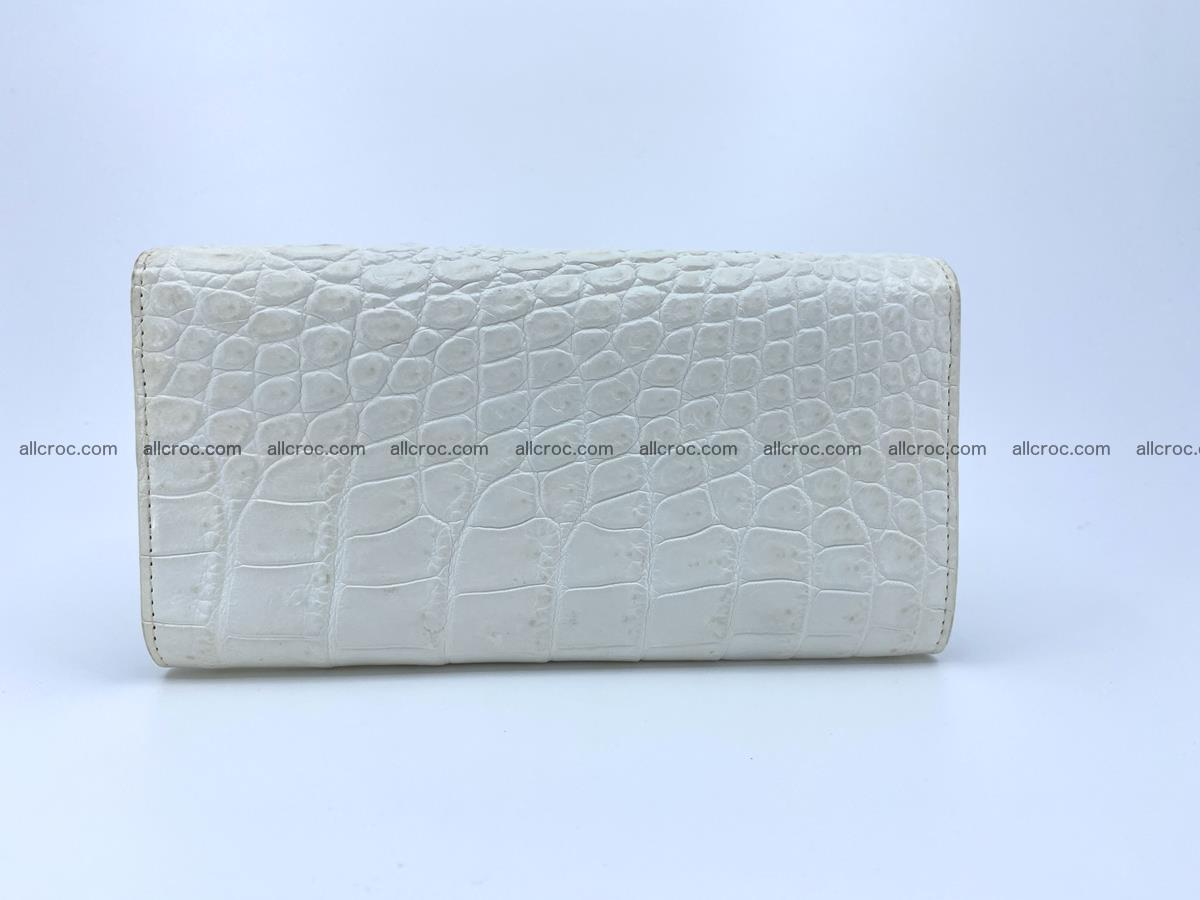 Crocodile skin wallet trifold for women 516 Foto 1