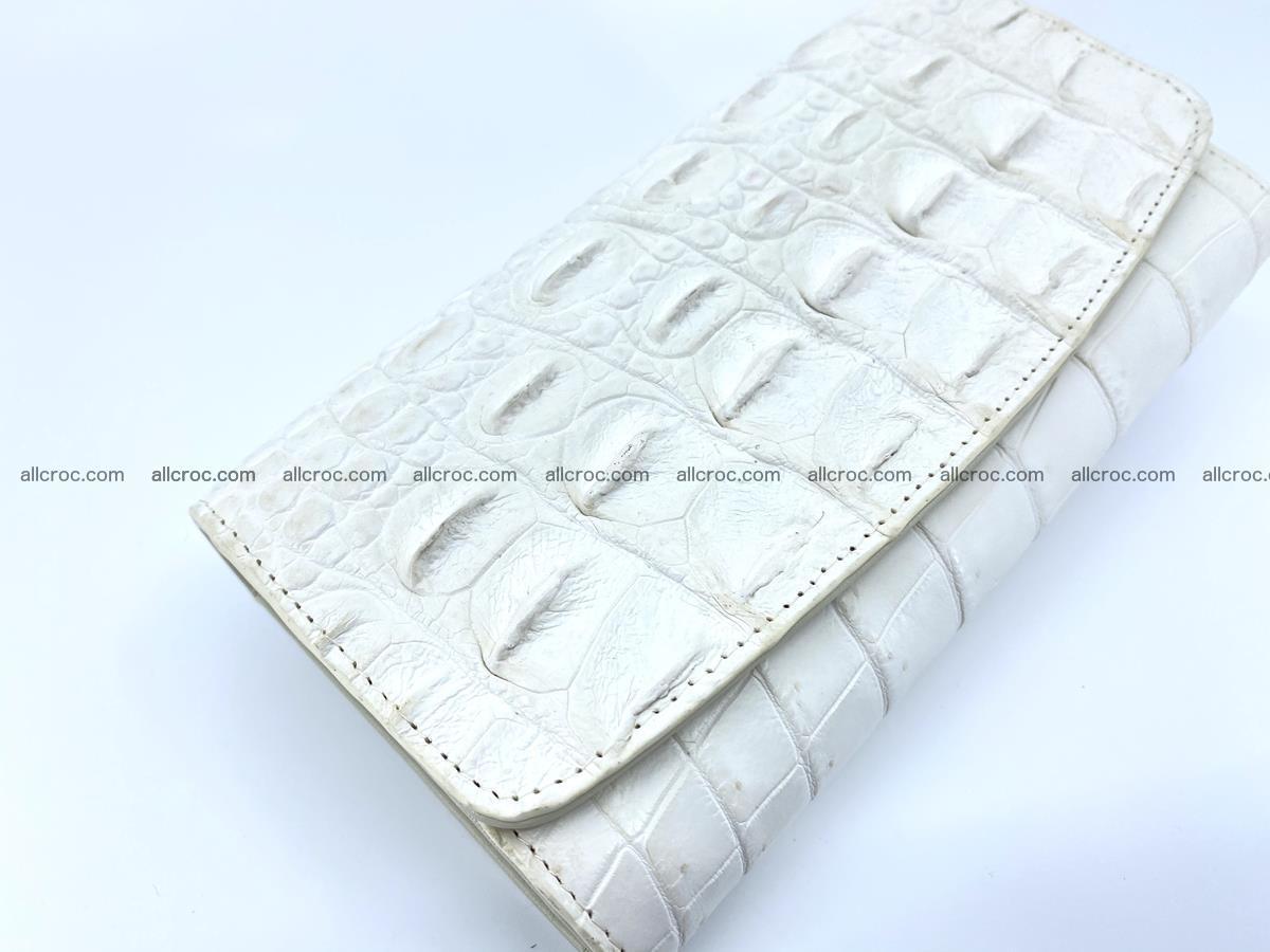 Crocodile skin wallet trifold for women 516 Foto 2