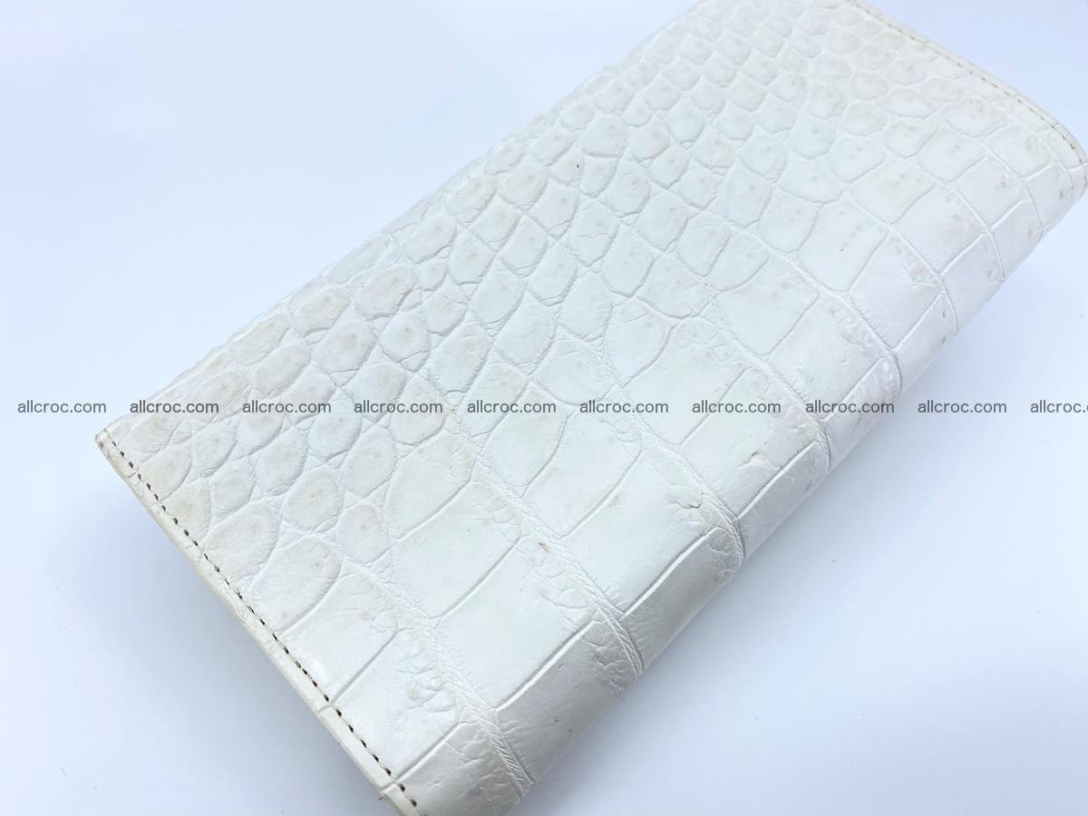 Crocodile skin wallet trifold for women 516 Foto 3