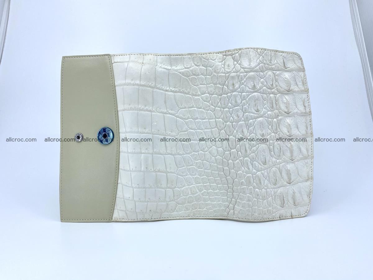 Crocodile skin wallet trifold for women 516 Foto 9