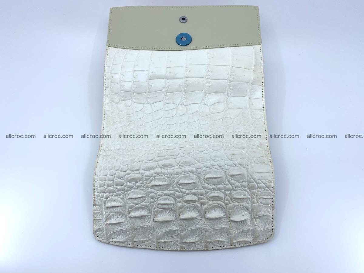 Crocodile skin wallet trifold for women 516 Foto 10